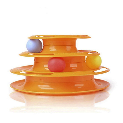 Funny Pet Toys Cat Crazy Ball Disk Interactive Amusement Plate Play Disc Trilami
