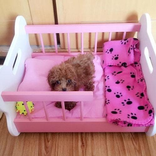 Pet litter dog wood cat litter cat pet supply wooden mattress bed Size: 53*48*35