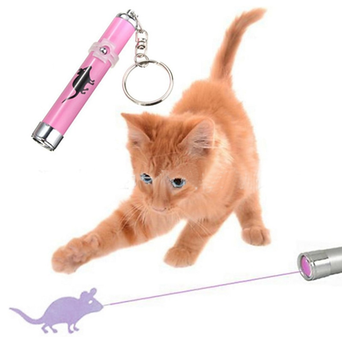 Portable Creative and Funny Pet Cat Toys LED Laser Pointer light Pen With Bright