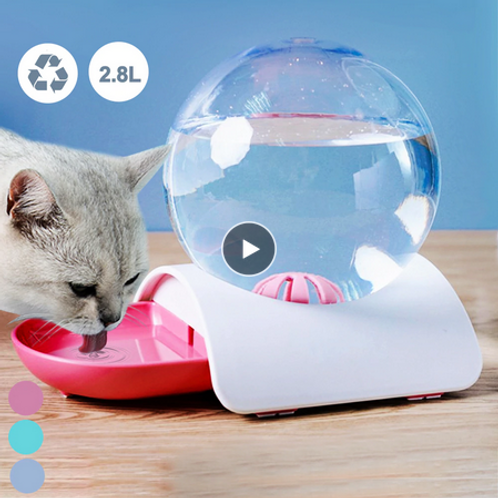 Pet Cat Dog Feeder Fountain Bubble Automatic