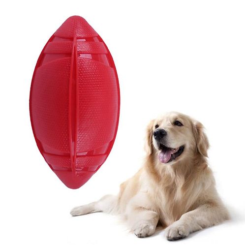 Pet Dog Ball Toy Natural Non-toxic Rubber Football Style Dog Toy Cat Training