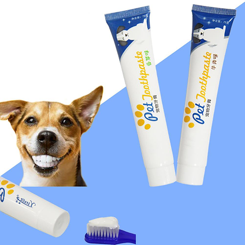 1PC Edible Dog Puppy Cat Toothpaste Teeth Cleaning Care Oral Hygiene Pet Supplie