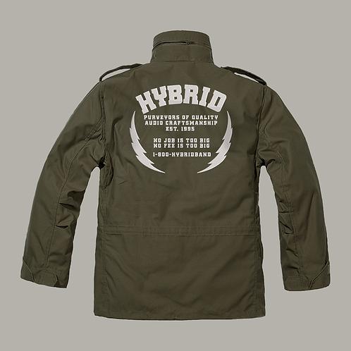Hybrid M65 Jacket  (Embroidered) - Green