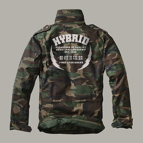 Hybrid M65 Jacket  (Embroidered) - Green Camo