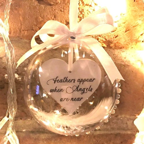 Feathers from Angels - Memorial Bauble