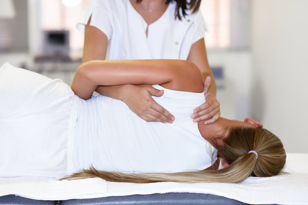 Woman getting physiotherapy