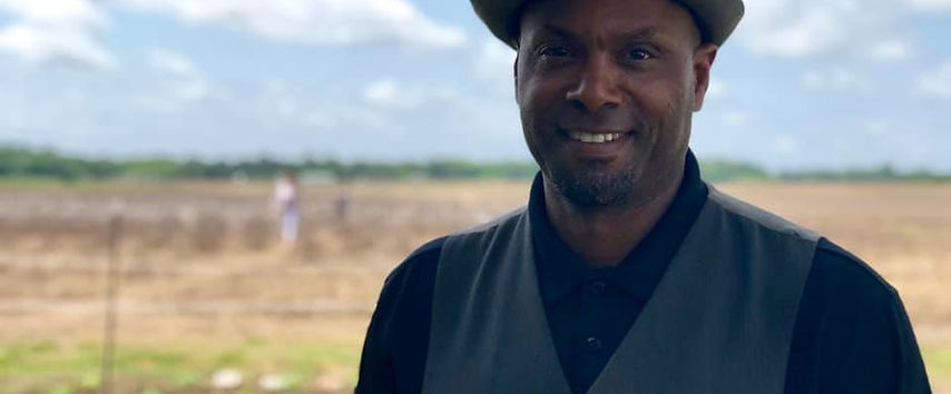 Christopher Cathcart visitng an historic Black school in Rock Hill, SC, (2018)