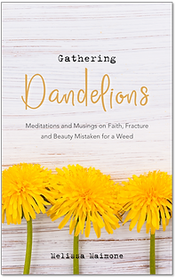 Gathering Dandelions by Melissa Maimonw