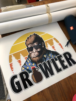 Growler Sticker