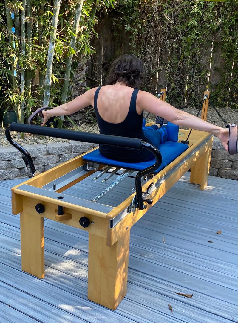 Outdoor reformer workout