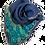 Thumbnail: リネンコットン刺繍ストール ターコイズフラワー