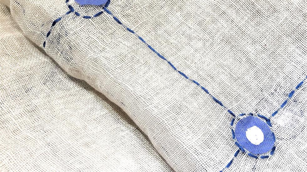 リネン刺繍ストール RUパッチ&ステッチ