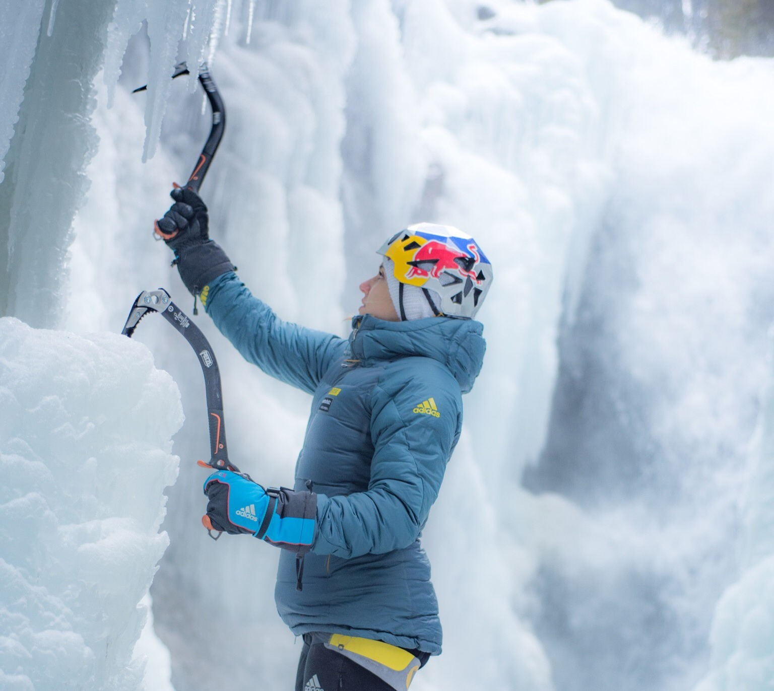 Eisklettern Petra Klingler