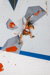 Petra Klingler Lead Climbing