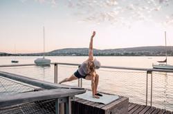 Petra Klingler beim Yoga