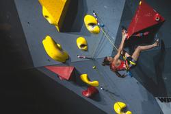 Lead Climbing Petra Klingler