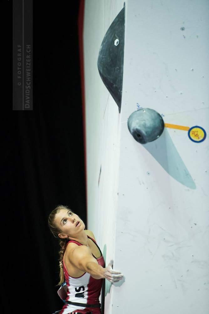 Weltmeisterschaft Bouldern Petra Klingler in Paris 2016