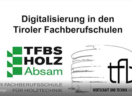 Video der TFBS-Holztechnik Absam und TFBS-Wirtschaft und Technik Kufstein zum Thema Digitalisierung
