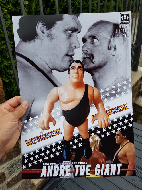 andre the giant wwf superstars poster 11x17