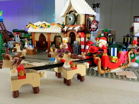 Le village de Noël Lego de Maxence..