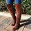 Thumbnail: Long Boots Lace Up Leather Female Over  Knee Boots  Plus Size 34-43 Ladies