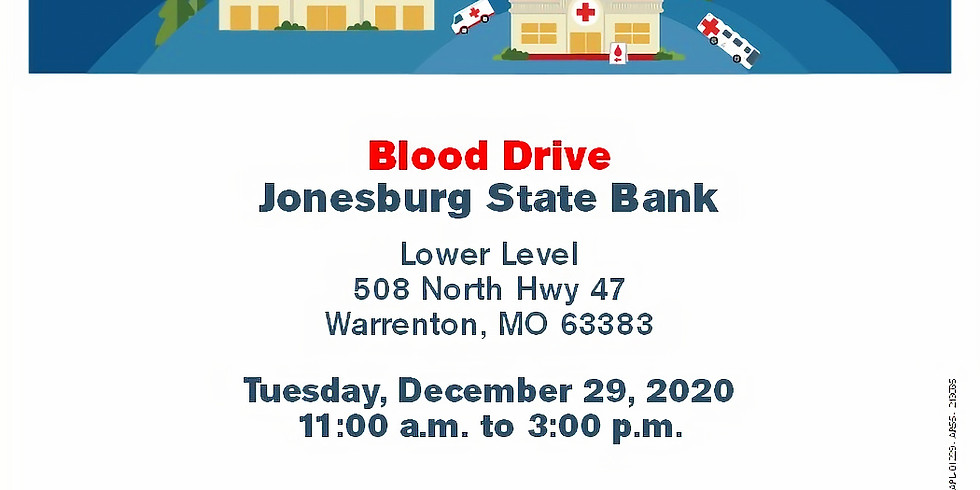 Jonesburg State Bank/American Red Cross Blood Drive