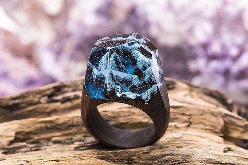 "Wood Ring ""Mountain river"