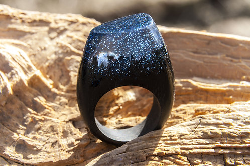"""Wood Ring """"LIMERENCE-Night"""""""