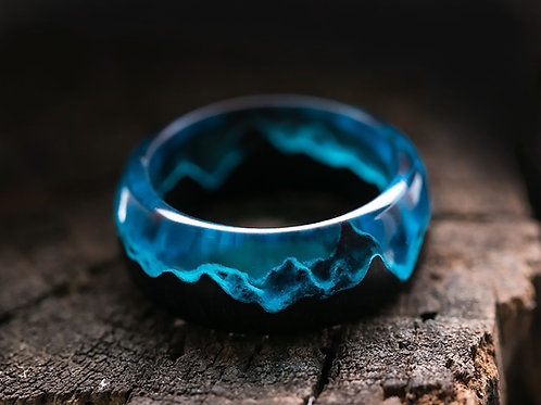 Arctic Wood resin Ring