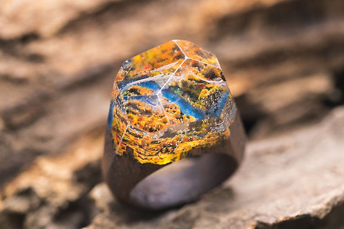 "Wood Ring ""Colors of Autumn"""