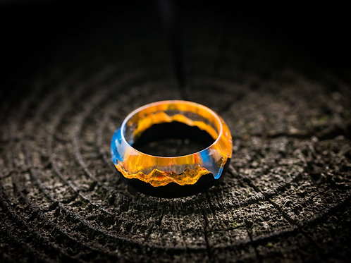 Wood resin ring Autumn