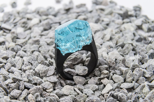 "Wood Ring ""Azure Sky"""