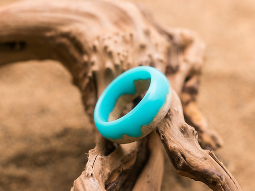 Wood resin Ring MINT