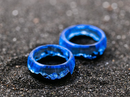 Engagement Rings 2pcs IceBerg Wood resin