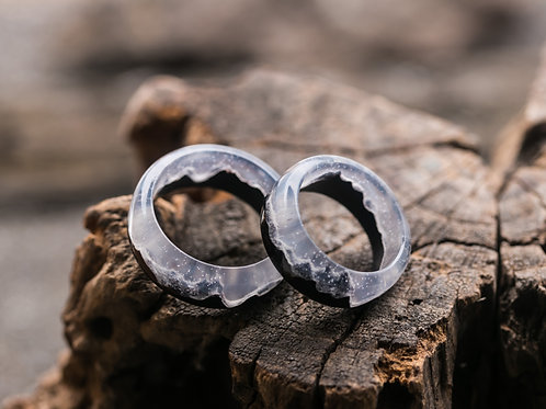 Engagement Rings 2pcs Mysterious World Wood resin