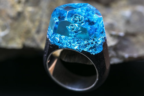 "Кольцо ""Blue Rose"""