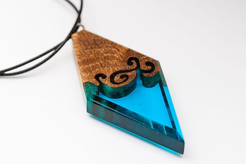Кулон Ancient patterns (turquoise)