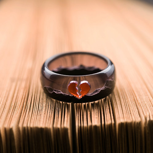 Wood resin ring Only Love