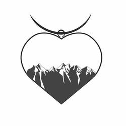 В форме сердца