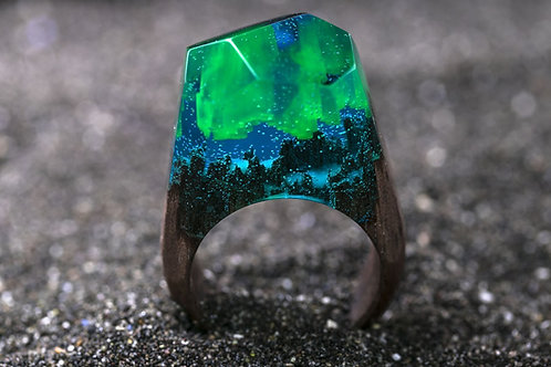 "Wood Ring ""Aurora"""