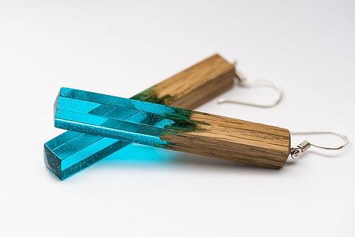Серьги Green Wood cristall
