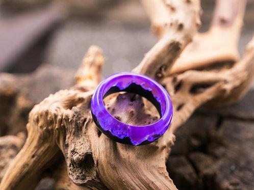 Wood resin ring Twilight
