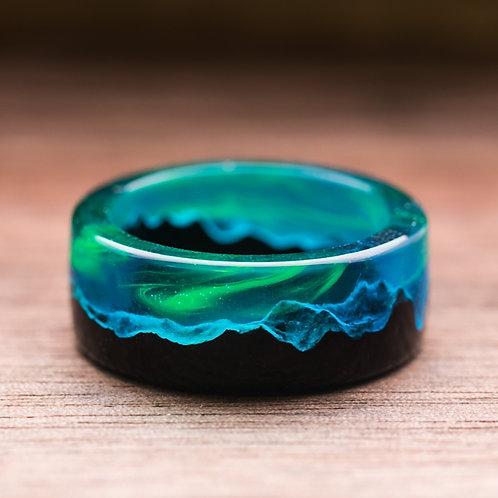 Polar Night V2 wood resin ring