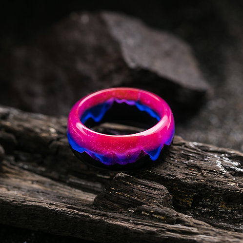 Norway Lights Wood resin Ring