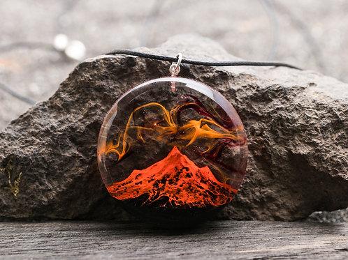 Pendant Necklace Volcano