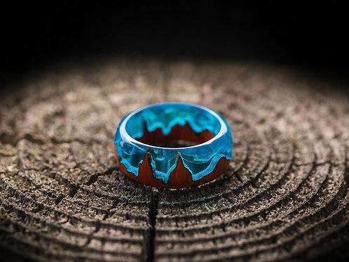 Midnight City Wood resin Ring