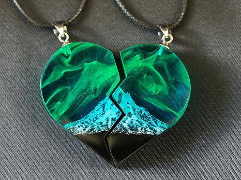 Matching necklaces set Polar Night