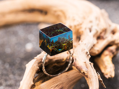 Wood Resin Ring Cube