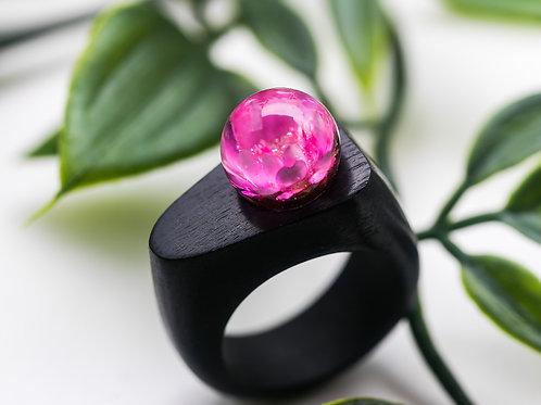 """Wood Ring """"Lotus"""""""