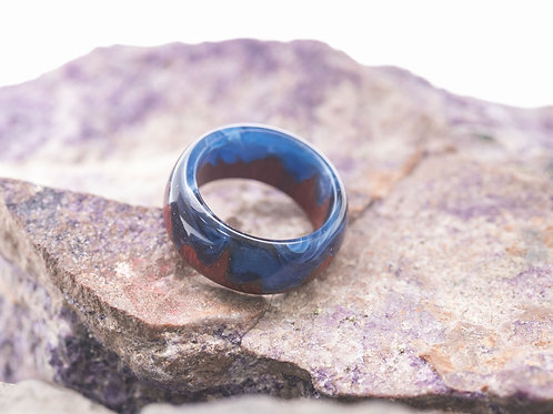 Wood Ring Midnight city (instock size 4.5)